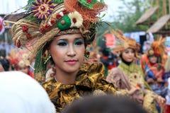 Röd Batik Arkivfoton