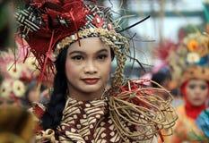 Röd Batik Arkivfoto