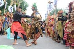 Röd Batik Royaltyfri Fotografi