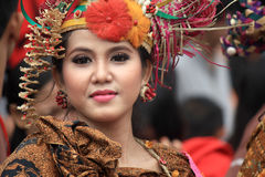 Röd Batik Royaltyfri Bild