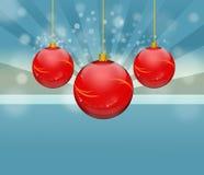 Röd bauble Royaltyfri Foto