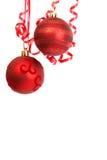 röd baublesjul Arkivfoto