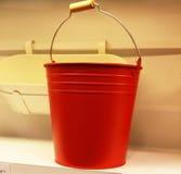 Röd behållare Fotografering för Bildbyråer