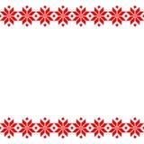 Röd Belorussian sakral etnisk prydnad, sömlös modell också vektor för coreldrawillustration Slovensk traditionell modellprydnad s Arkivfoto