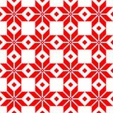 Röd Belorussian sakral etnisk prydnad, sömlös modell också vektor för coreldrawillustration Slovensk traditionell modellprydnad Royaltyfri Foto