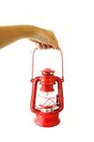Röd bensinlampa Fotografering för Bildbyråer