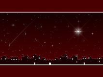 röd bethlehem jul Royaltyfri Foto