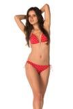 Röd bikini Royaltyfri Bild