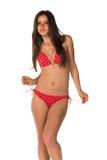 Röd bikini Arkivfoto