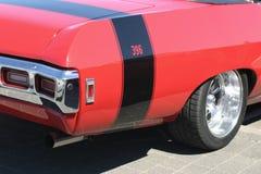 Röd bil fotografering för bildbyråer