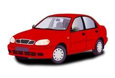 Röd bil. Royaltyfri Foto