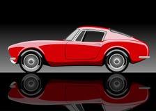 Röd bil Arkivbild