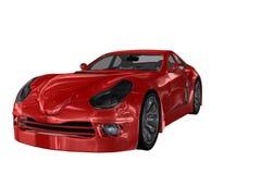 Röd bil Arkivbilder