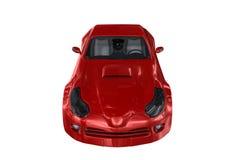 Röd bil Arkivfoto