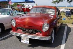 Röd bil för Chevy gataStång tappning Fotografering för Bildbyråer