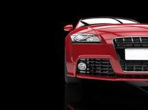 Röd bil på svart bakgrundssnitt Royaltyfri Bild