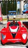 Röd bilformel GT, motorisk show Arkivfoton