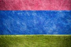 Röd, blå och grön fibertextur Royaltyfri Fotografi