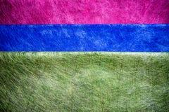 Röd, blå och grön fibertextur Arkivfoton