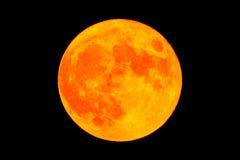 Röd blodmånefullmåne Arkivfoto