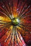 Röd blomma för metall Arkivfoton