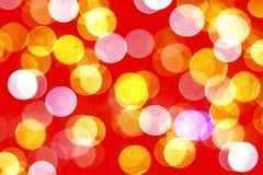 Röd bokehbakgrund Royaltyfri Bild