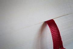 Röd bokmärke Royaltyfri Foto