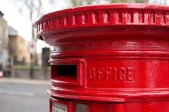 Röd bokstavsask royaltyfria bilder