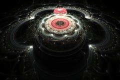Röd boll för Fractal i blomman Fotografering för Bildbyråer