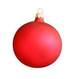 Röd boll för jul som isoleras på vit med att fästa ihop PA Royaltyfria Bilder