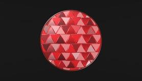 Röd boll på svart bakgrund, härliga tapeter, illustration Arkivfoton