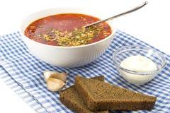 Röd borscht Arkivfoton
