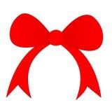 Röd bow Royaltyfria Bilder