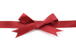Röd bow Arkivbilder