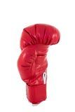 Röd boxninghandske Arkivbild