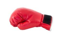 Röd boxninghandske Royaltyfri Fotografi