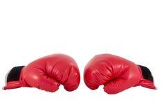 Röd boxninghandske Royaltyfri Foto