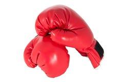 Röd boxninghandske Arkivfoto