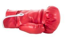 Röd boxninghandske Royaltyfria Bilder