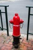 Röd brandpost Fotografering för Bildbyråer