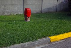 Röd brandpost Arkivbilder