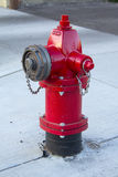 Röd brandpost Arkivbild