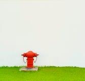 Röd brandpost Royaltyfri Fotografi