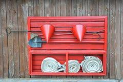 Röd brandsköld Royaltyfria Bilder