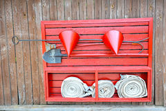 Röd brandsköld Royaltyfri Fotografi