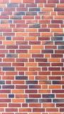 Röd brickstonevägg - stående funktionsläge Royaltyfria Bilder