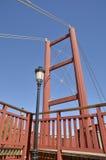 Röd bro för detalj Arkivfoto