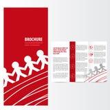 Röd broschyr stock illustrationer