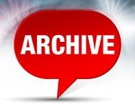 Röd bubblabakgrund för arkiv royaltyfri illustrationer