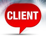 Röd bubblabakgrund för klient stock illustrationer
